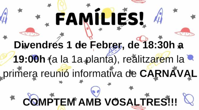 Reunió de famílies Carnaval'19